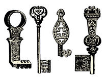 Old key collection Stock Images