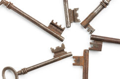 Old Key Forming a Circle Royalty Free Stock Image