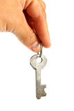Old key in hand. Royalty Free Stock Photos