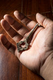Old key in hand. Royalty Free Stock Photo