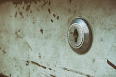 Old key hole of steel cabinet Royalty Free Stock Photo