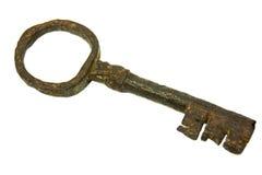 Old key isolated on white. Background stock image