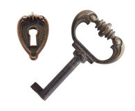 Old key and keyhole Royalty Free Stock Photography