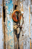 Old key in keyhole Royalty Free Stock Image