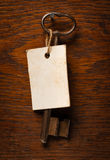 Old Key With Label Royalty Free Stock Photo