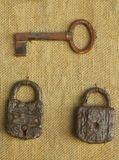 Old key and lock Stock Images