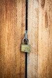 Old Key Lock on Close Royalty Free Stock Photography