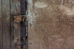 Old key locker at the old door Royalty Free Stock Photos