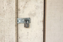 Old key locker at the wodden door Royalty Free Stock Images