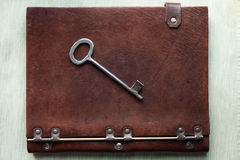 Old key on a old book Royalty Free Stock Photography