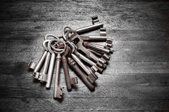 Old Key Ring Keys Stock Image