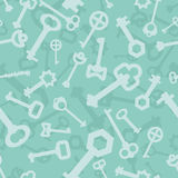 Old key seamless pattern. Lot vintage key from lock. Retro Key d Stock Photos