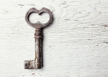 Old key on table Stock Image