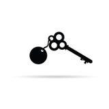 Old key vector Royalty Free Stock Photos