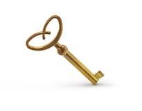 Old key  on white Stock Photo