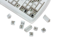 Old keyboard Royalty Free Stock Photo