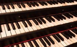 Free Old Keyboard Manuals Of A Church Organ Stock Photography - 74021822
