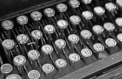 Old keyboard of an old TYPEWRITER of 40s Royalty Free Stock Images