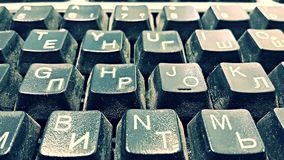 The old keyboard. Stock Image