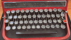 The old keyboard. Vintage object. The old keyboard of a typewriter Stock Photography