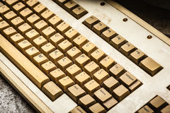 Old keyboard Stock Photography
