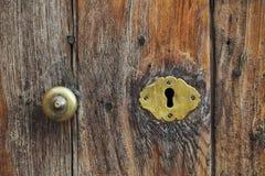 Old keyhole. On a door Stock Photos