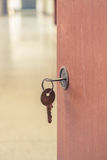 Old keyhole with key Royalty Free Stock Images