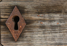 Old keyhole with old wood Stock Photos