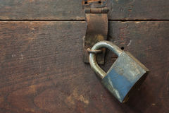 Old keyl lock Royalty Free Stock Images