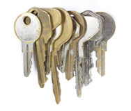Old keys. Bunch of old keys in a stack royalty free stock photos