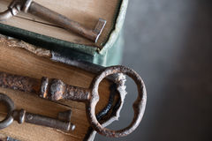 Old keys and books Royalty Free Stock Photography