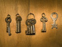 Old keys bunch. Royalty Free Stock Photography
