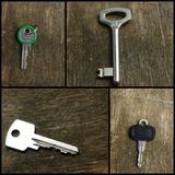 Old keys collage Stock Image