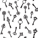 Old keys with decorative elements in retro style Royalty Free Stock Photo