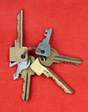Old keys from the door Stock Image
