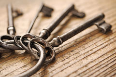 Old keys group Royalty Free Stock Images