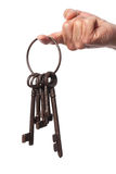 Old Keys In Hand Stock Images
