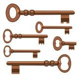 Old keys. Illustration Stock Photography