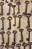Old keys in Junk shop Royalty Free Stock Photography