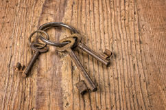 Old keys on a key ring Royalty Free Stock Photography
