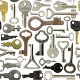 Old keys pattern Royalty Free Stock Photo