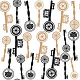 Old keys  sealess pattern vector Royalty Free Stock Image