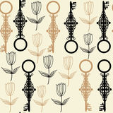 Old keys seamless pattern Stock Photo