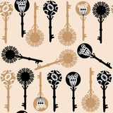 Old keys seamless pattern Stock Photography