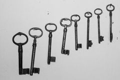 Old keys. Some old and iron keys Royalty Free Stock Photography