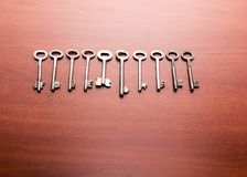 Old keys on the table Royalty Free Stock Photography