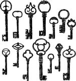 Old keys Stock Photos