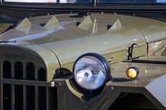 Old khaki military car Royalty Free Stock Image