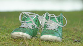 Old kids shoes Royalty Free Stock Images
