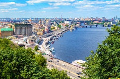 The old Kiev city - the capital of Ukraine and the Dnieper Stock Photo